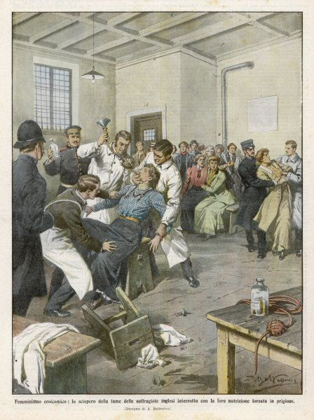 Suffragettes force-fed in prison