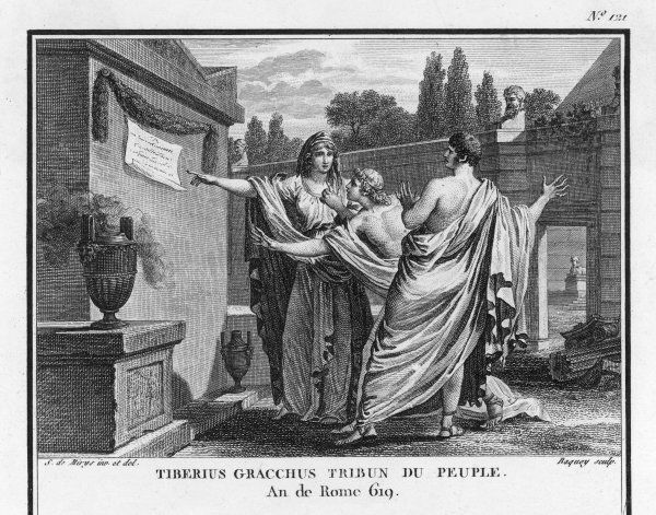TIBERIUS GRACCHUS is appointed Tribune of the People and seeks to initiate reforms to restore the peasant class
