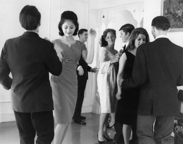 Rather Tame Party. Posh young people dancing at a rather tame house party. Date: 1960s