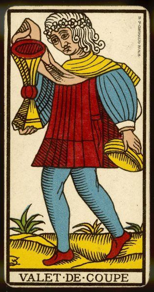 Tarot Card - Valet de Coupe (Page of Cups)