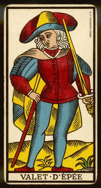 Tarot Card - Valet d'Epee (Page of Swords)