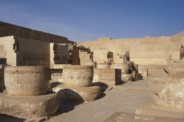 Temple of Ramesses III. Ruins. Egypt