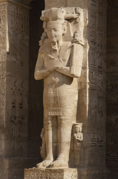 Temple of Ramses III. Great colossal statues of Ramses III d