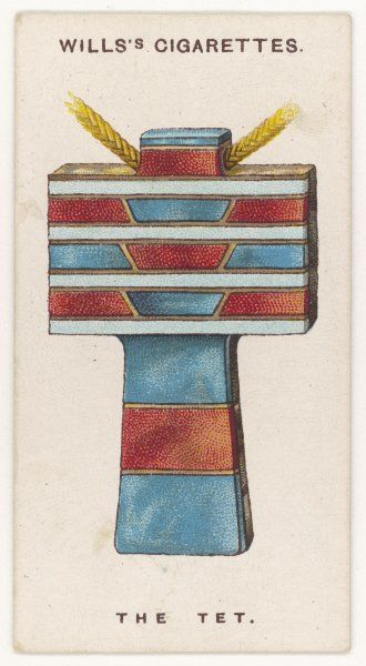 TET AMULET. TET (or TAT) AMULET An ancient Egyptian protection against misfortune