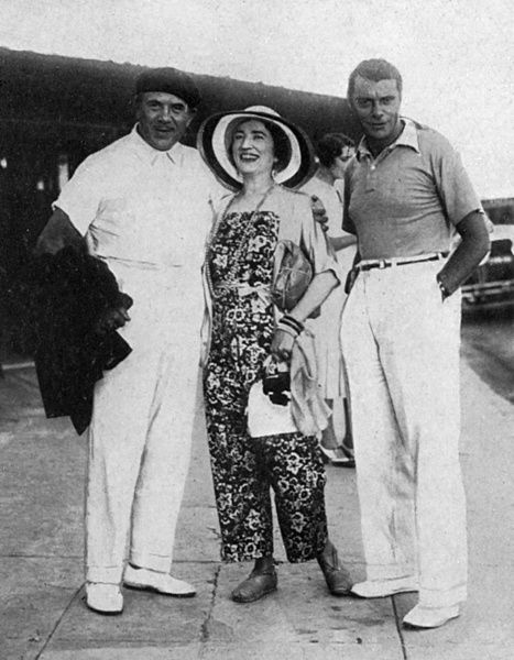 Tito Ruffo, Ethel Levey & Peppie D'Albro at Cannes
