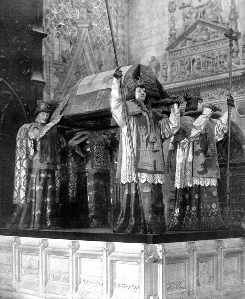 The Tomb of Columbus, Seville Cathedral, 1909