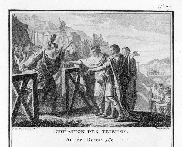 Tribunes of the People (Plebeian Tribunes) created in Ancient Rome