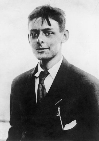 TS ELIOT/ANON PHOTO. T.S.ELIOT American-born writer, photographed in his early twenties