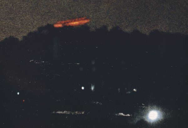 UFO photographed by MARK ROTH over a park in Queens, New York