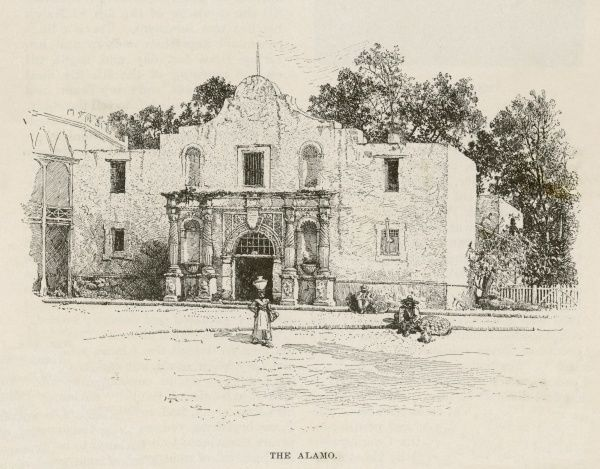 USA/ALAMO, TEXAS. The exterior of the Alamo