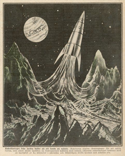 Max Valier, Munich engineer, proposes using a lunar base for rockets travelling to distant planets. (3 of 3)