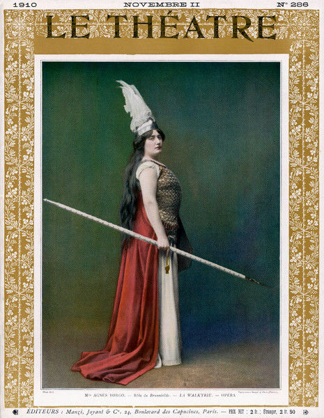 The Valkyrie. Die Walkure, (The Valkyrie) Agnes Borgo as Brunnhilde, at the Paris Opera