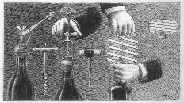 VARIOUS CORKSCREWS. A selection of corkscrews