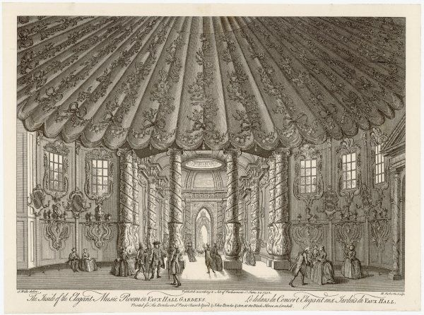 The inside of the music room, Vauxhall Gardens
