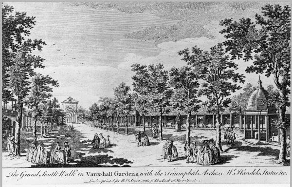 The grand south walk, Vauxhall Gardens