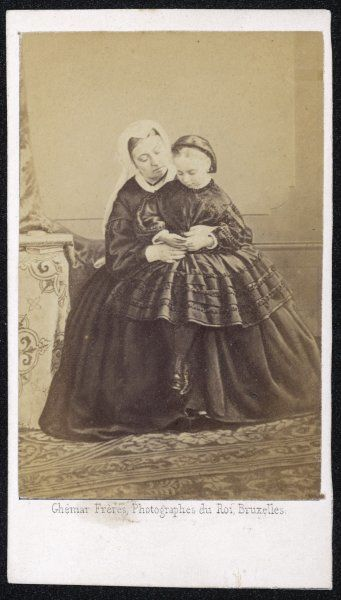 QUEEN VICTORIA with her youngest daughter, Princess Beatrice (Princess Henry of Battenberg, 1857-1944)