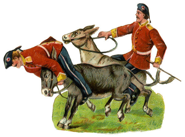 Victorian Scrap - Army Donkey Race