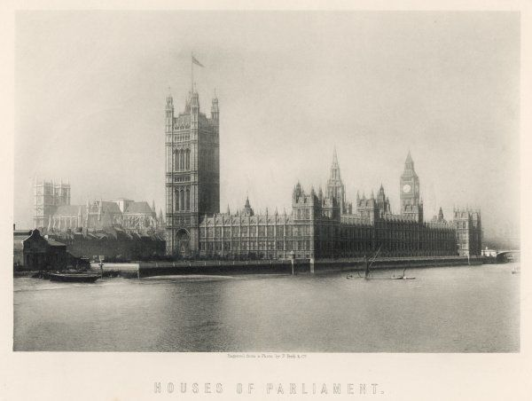 View of Parliament buildings and Big Ben, London