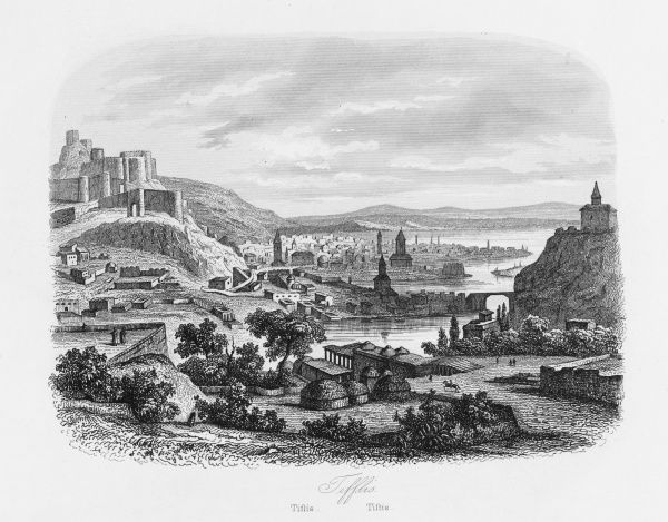 View of Tbilisi (known as Tiflis until 1936), capital of Georgia, formerly part of the Russian Empire and Soviet Union, until independence in 1991