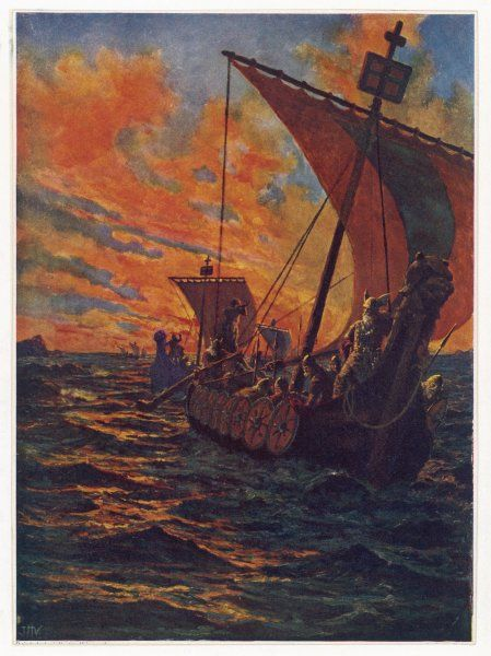 VIKING SHIPS/. Dawn raiders