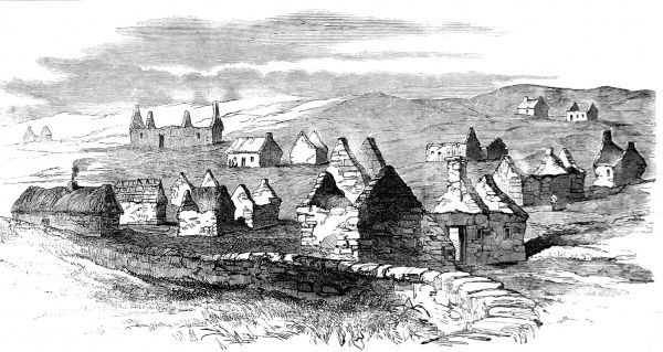 Village of Moveen during the 1840's