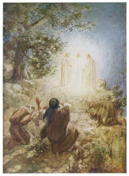 VISION OF JESUS. Jesus appears in a vision with Elijah and Moses to Peter, James and John