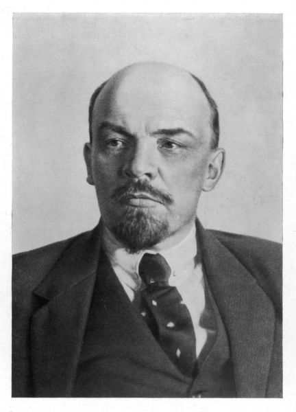 A photograph of Vladimir Ilyich Ulyanov Lenin (1870 - 1924), Russian statesman and Communist leader, circa 1920