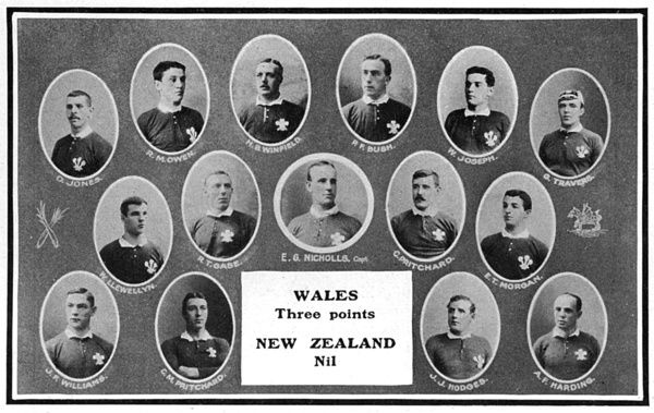 The Wales rugby team, 1905