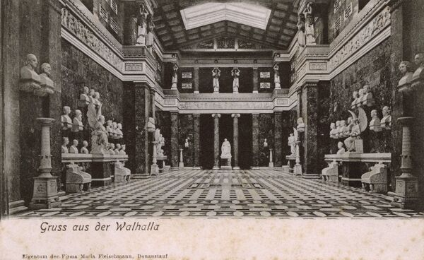 The Walhalla - Interior - Danube River, Bavaria, Germany