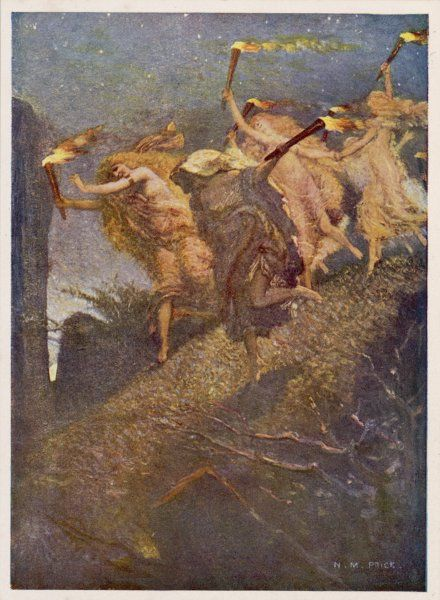 On WALPURGISNACHT, the eve of May Day, witches gather on the Brocken, the highest point of Germany's Harz Mountains, for their Spring Sabbat