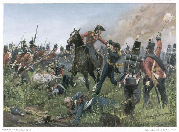 WATERLOO [KNOTEL]. Colonel Hugh Halkett captures the French general Cambronne