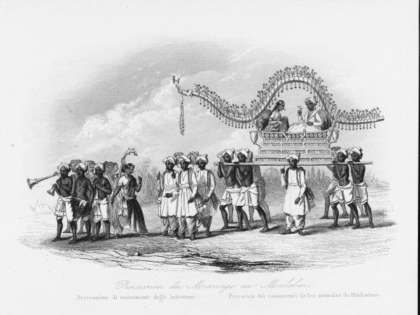 A wedding procession at Malabar, in south-western India
