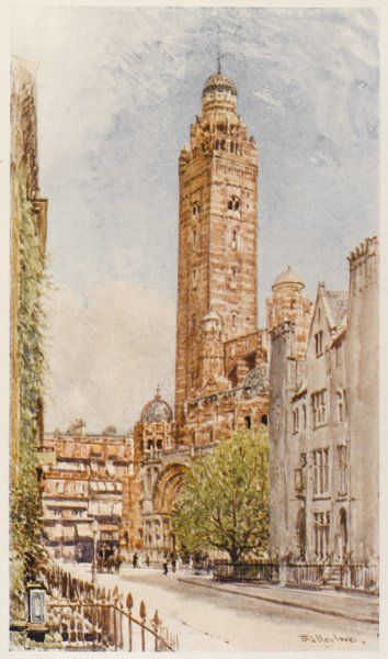 A general view looking up towards Westminster Cathedral