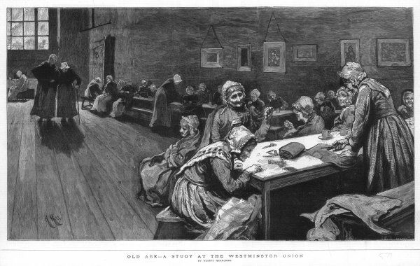 WESTMINSTER UNION. Women at the Westminster Union workhouse