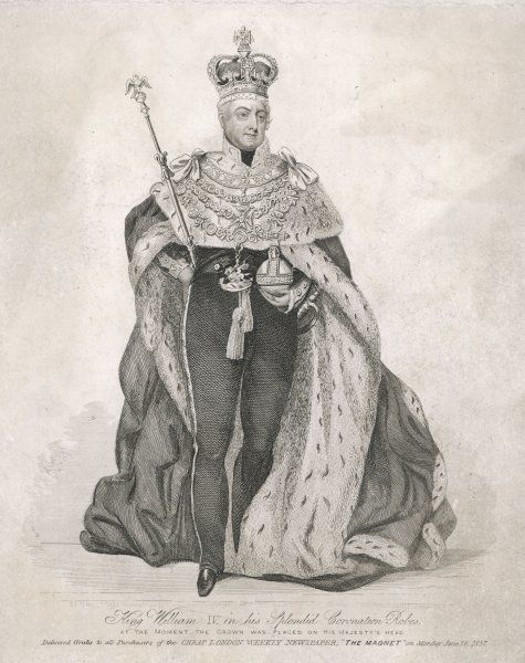 WILLIAM IV KING OF ENGLAND in his coronation robes