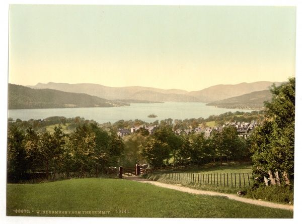 Windermere, from summit, Lake District, England