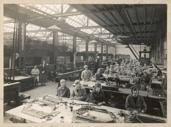 Women workers in munitions factory in Britain