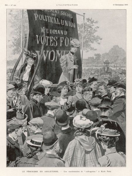 WOMEN'S RIGHTS DEMO/1906
