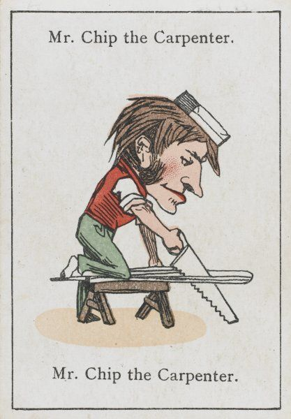 "Mr Chip the Carpenter, from ""Happy Families"" devised in Britain by Mr Jacques in 1861"