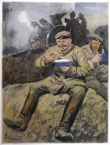 War or no war, the German troops at the Front are eating well