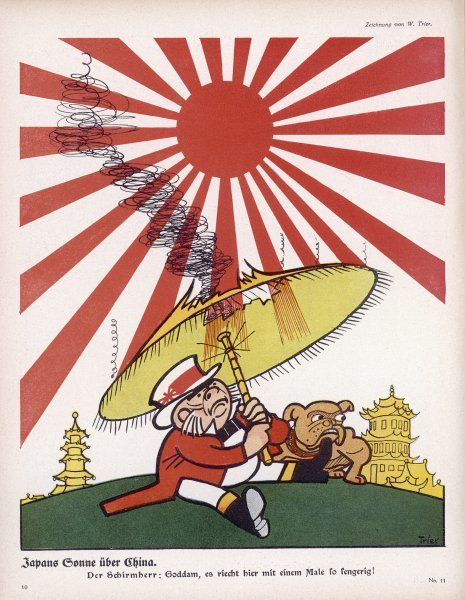 When Japan enters the war, John Bull finds the Rising Sun a little too hot for him