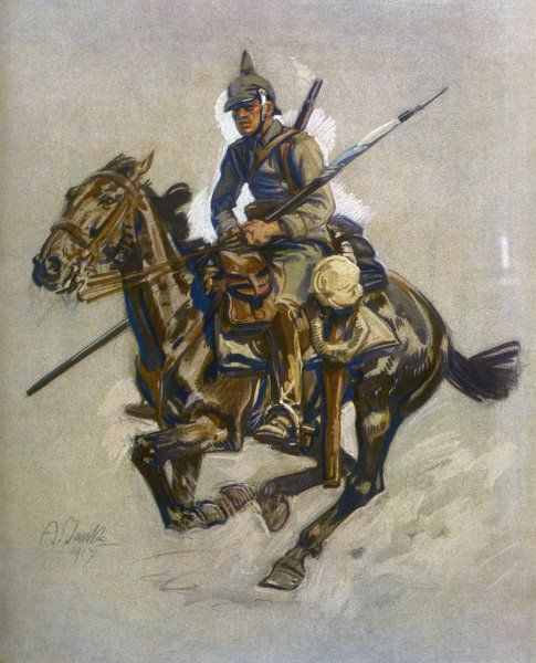 A German dispatch rider