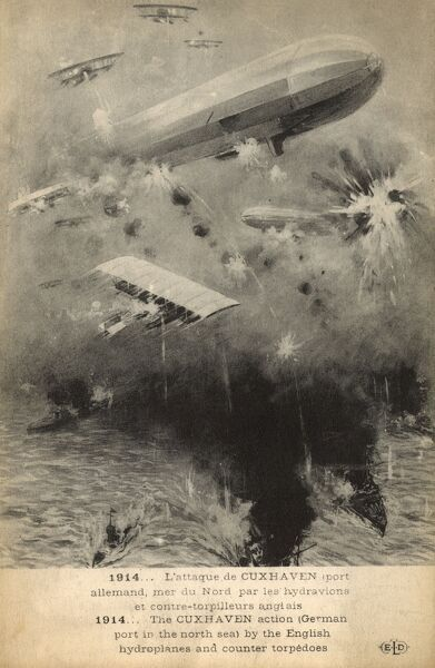 WW1 - The Cuxhaven Action - aerial and naval combat