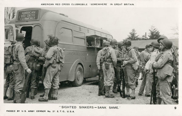 'Sighted Sinkers - Sank Same!' WW2 - American Red Cross Clubmobile (USAF) - 'Somewhere in Great Britain'