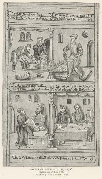 Baking bread - the corn, the flour and the leaven ; from the Ordinances of the Gild of Bakers of York (1 of 2)