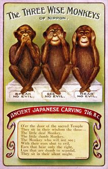 3 WISE MONKEYS/JAPANESE