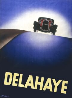 Advert for the Delahaye motor car