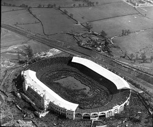 Aerial view of the 1923 Cup Final Wembley Stadium London
