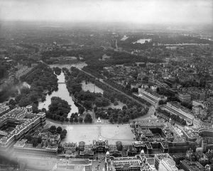 An aerial view of Horse Guards Parade St James Park - Londo