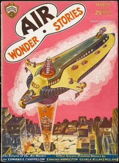 Air Wonder Stories scifi magazine cover, Return of Air Master